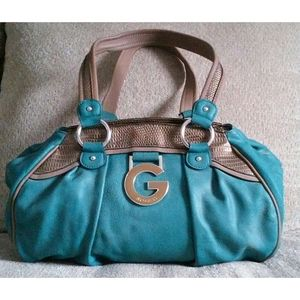 Teal & Pewter G By Guess Tote